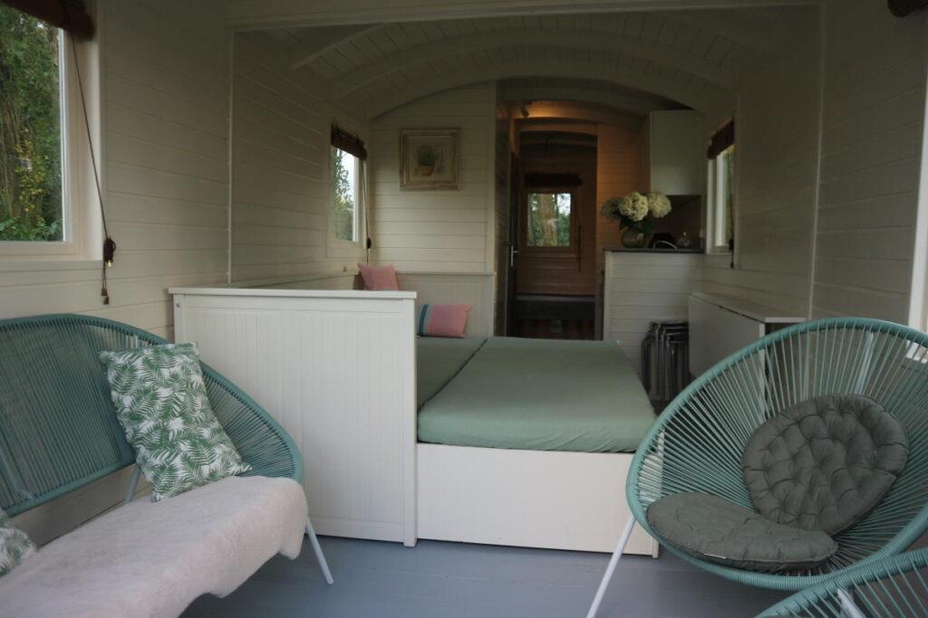 Pipowagen Madelief interieur