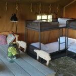 Safaritent interieur bedden slaapplaatsen
